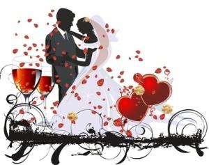 corazon copas boda